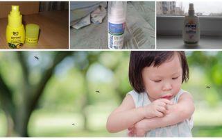 Phương tiện hiệu quả của muỗi đối với trẻ em từ 1 tuổi trở lên
